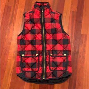 Jcrew Puffy Vest Buffalo Check XS